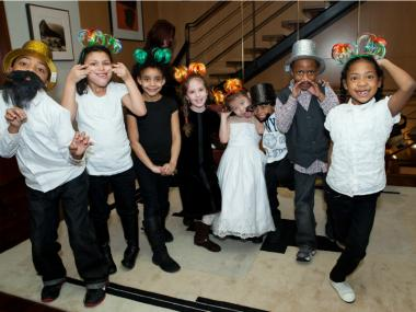 Goofing off and having fun at the launch of the McBurney YMCA's Strong Kids Campaign.