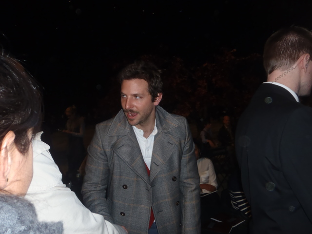 Bradley Cooper at Fashion Week.