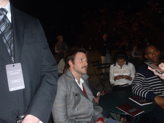 Bradley Cooper enjoying the Fashion Week shows.