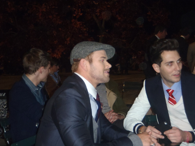Twilight's Kellan Lutz at Fashion Week.