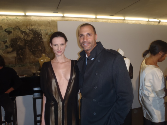 Rubin + Chapelle model Elodie Passelaigue and Nigel Barker.