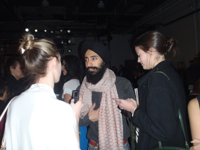Waris Ahluwalia at Yigal Azrouel.