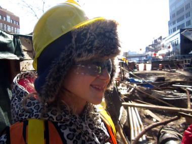 P.S. 276 students visited Downtown construction sites Feb. 13, 2012.