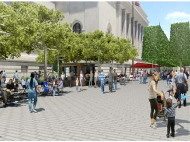 Metropolitan Museum plans call for fewer tables, chairs in $60 mil plaza redesign.