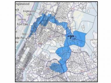 The Dominican American National Roundtable's proposal for a new majority-Latino Congressional District spanning Upper Manhattan, the Bronx and Queens.