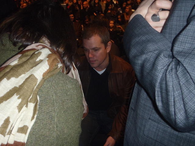 Matt Damon in the crowd at Naeem Khan show at Fashion Week.