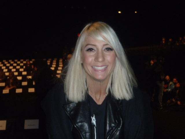 Taylor Jacobsen from the Rachel Zoe show, at Naeem Khan's runway show at Fashion Week.