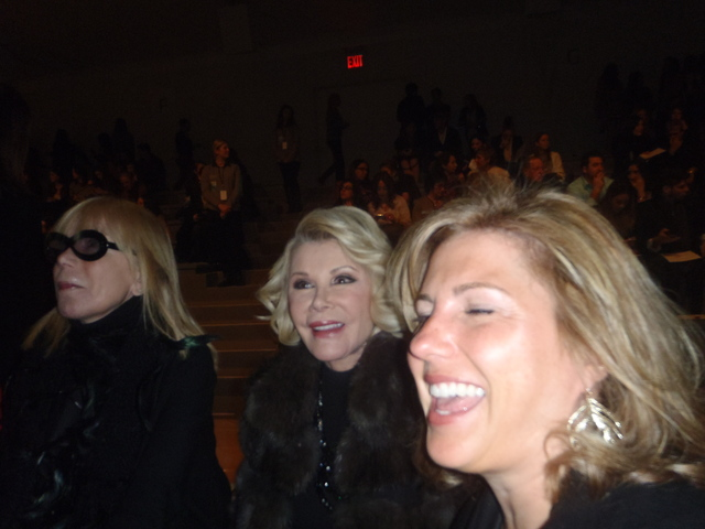 Joan Rivers at the Dennis Basso show at Fashion Week.