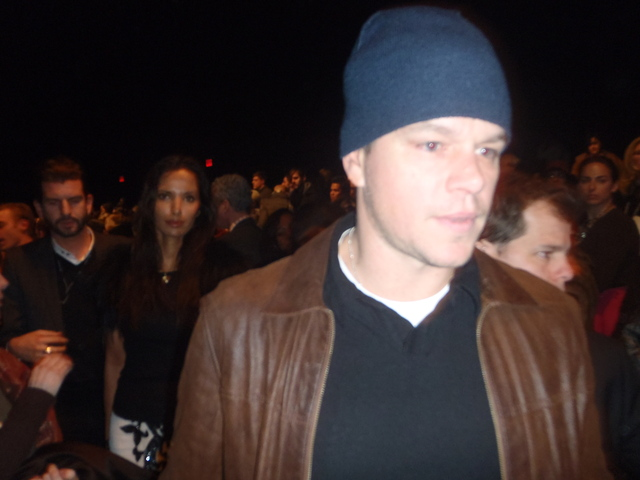 Matt Damon at Fashion Week.