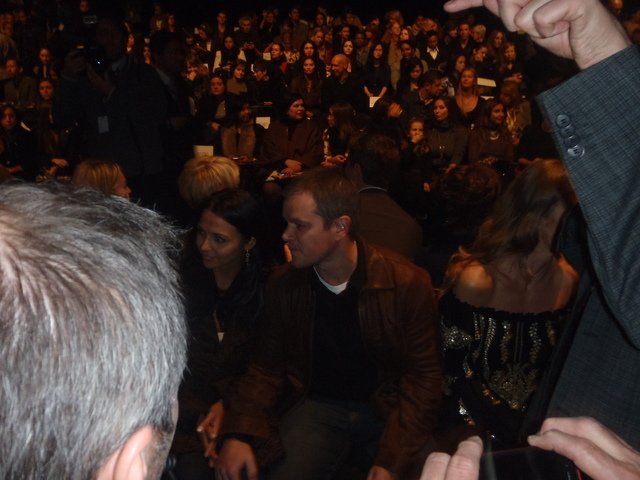 Matt Damon at Naeem Khan at Fashion Week.