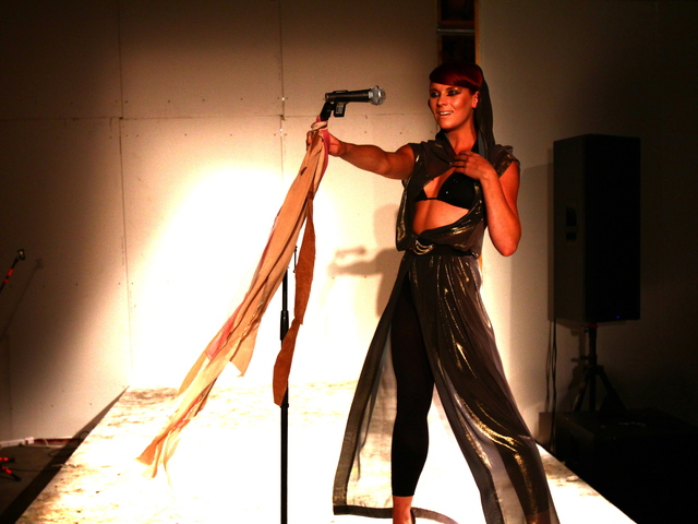 Designer Nathalie Kraynina showed at the last season of Williamsburg Fashion Weekend.
