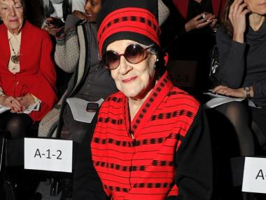 Zelda Kaplan attends the Joanna Mastroianni Fall 2012 fashion show during Mercedes-Benz Fashion Week at The Studio at Lincoln Center on February 15, 2012 in New York City.