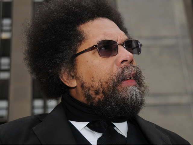 Cornel West outside of Manhattan Criminal Court on Feb. 16., 2012.