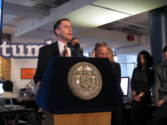 <p>Seth Pinsky, the city&#39;s economic president, said that technology employment in New York has increased nearly 30 percent in the past five years.</p>