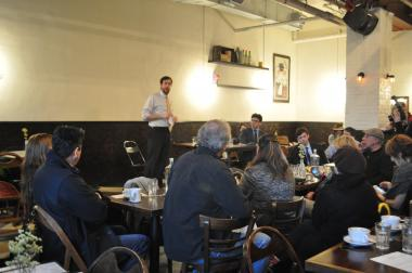 Business owners and elected officials met Thursday to discuss L train cuts.