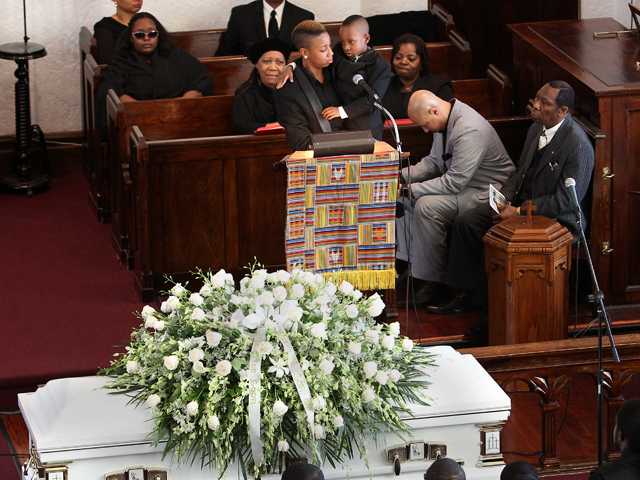 Friends and family of Ramarley Graham, the Bronx teen gunned down by cops, speak at his funeral service on Sat., Feb. 18, 2012.