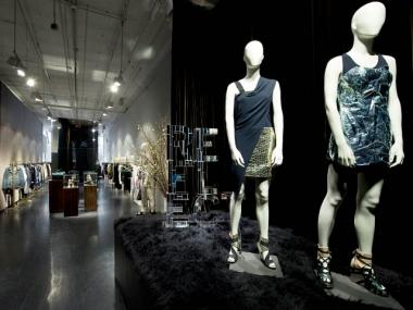 Diesel's recently redesigned 2,500-square-foot store at 68 Greene St. between Spring and Broome streets is decked out with 15-foot ceilings lined in gray velvet and suede-covered clothing displays.