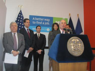 Mayor Michael Bloomberg defended the NYPD's surveillance efforts at a press conference in Brooklyn.