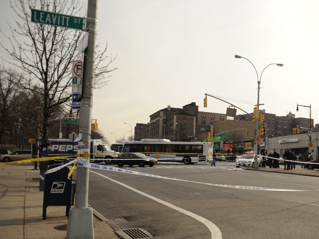 A woman in her 40s was struck and killed by multiple vehicles, including a city bus, in Flushing on Feb. 22, 2012.
