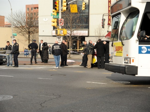 A city bus struck and killed a woman at Northern Boulevard and Union Street on Feb. 22, 2012.