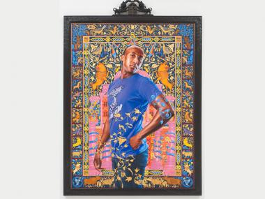 "Kehinde Wiley's ""Alios Itzhak (The World Stage: Israel)"", 2011, oil and gold enamel on canvas."