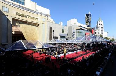 The red carpet arrivals at the 83rd Annual Academy Awards in 2011, at the Kodak Theater in Hollywood.