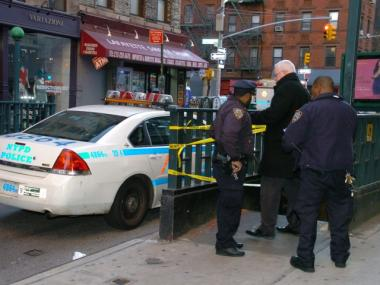 Police responded to the Spring Street subway station, where Michael Ice, 22, of Rye, was struck and killed by a 6 train early Sat., Feb 25, 2012.
