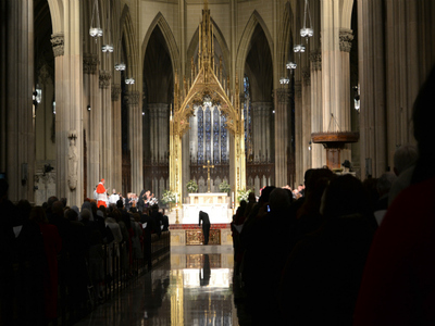 Cardinal Timothy Dolan led a morning mass at St. Patrick's Cathedral on Saturday, Feb. 25, 2012 and gave thanks for his recent elevation. Audience members included the likes of elected officials Michael Bloomberg, Andrew Cuomo and Christine Quinn.