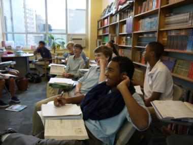 Students at the Grace Church School, a 118-year-old independent school in the East Village.