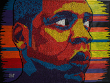Thumbtack 'Paintings' of Black Icons Shown in TriBeCa