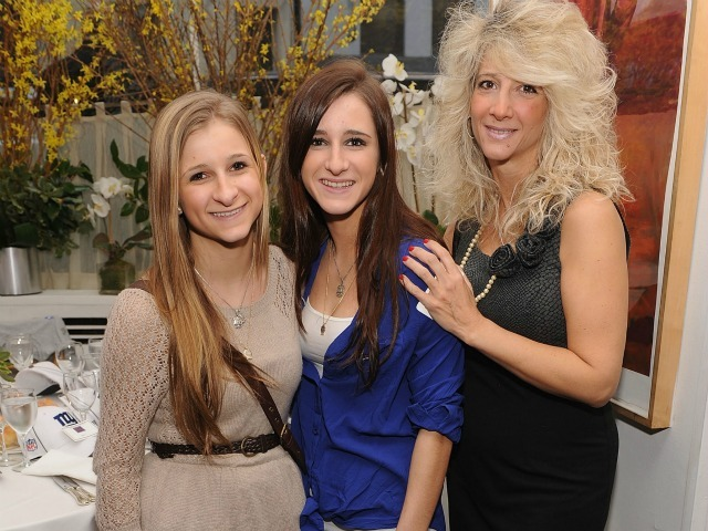 Corrine Figoski, Caroline Figoski and Paulette Figoski attend the New York Giants Super Bowl Pep Rally Luncheon at Michael's on February 1, 2012 in New York City.