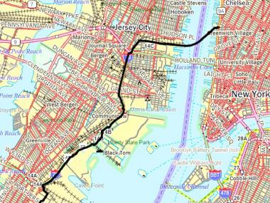 The pipeline will run under the Hudson River and have an endpoint at 10th Avenue and Gansevoort Street.