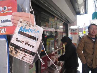 This newsstand has been on the Bowery for 35 years.