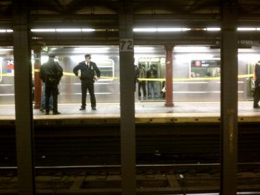Service was disrupted on the 2 and 3 subway lines after a person was reported in the 125th Street tunnel.