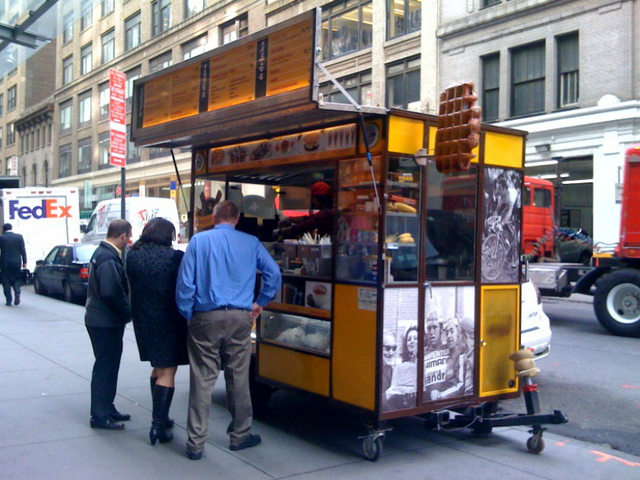 The Wafels & Dinges food cart, which the 34th Street Partnership says is an example of how a food cart can be done right.
