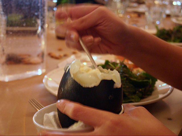 Emu eggs can be served poached.