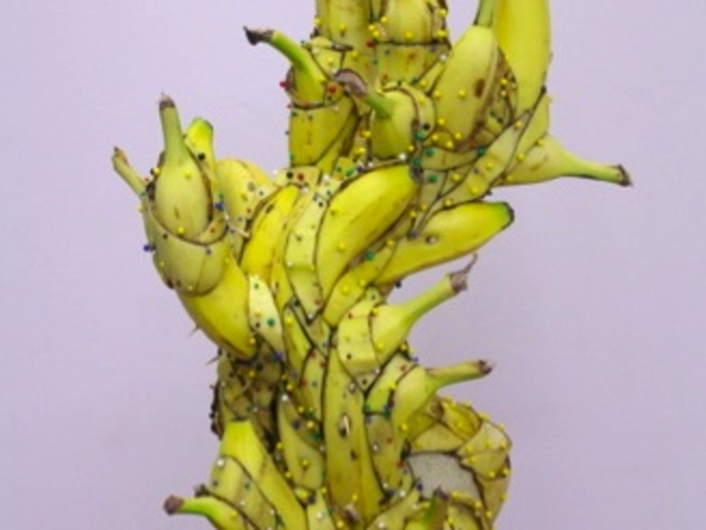 Matt Stone's decomposing banana sculpture won't last long at Like the Spice Gallery before it decays - but it'll be up for Brooklyn Armory Night.