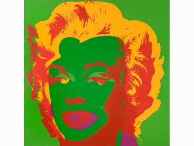 An Andy Warhol print is shown at the Armory Show by Michael Schultz Gallery.