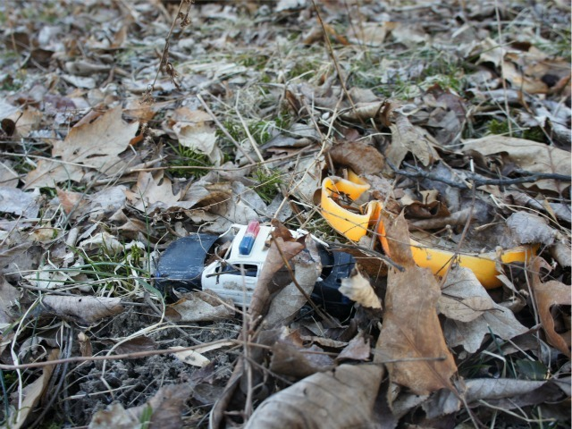 Toys spotted on the ground of Anna Gristina's Monroe property.