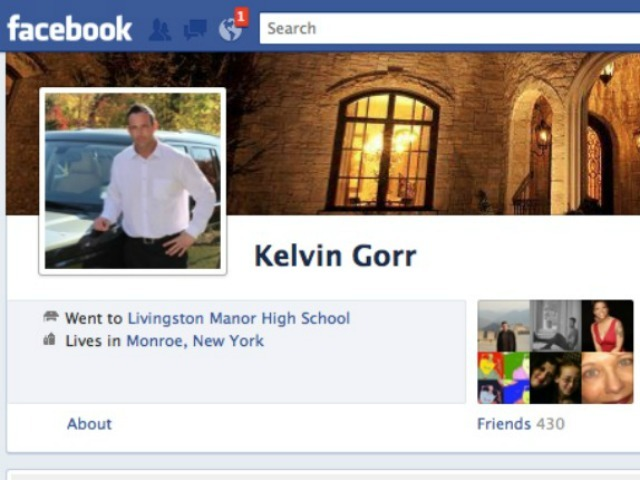 The Facebook profile for Anna Gristina's husband, Kelvin Gorr.