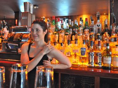 "Bartender at the Gibson NYC, Amy Ehrman, said they had ""booby-trapped"" the space with stools after they were robbed twice."
