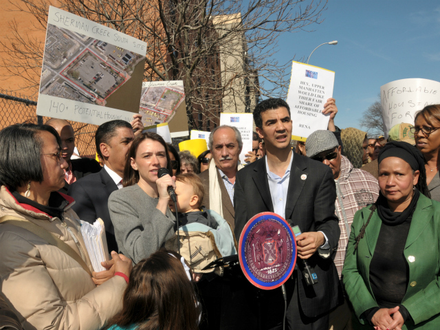 Upper East Side Councilwoman Jessica Lappin called for the creation of additional affordable housing in Upper Manhattan on Sunday, Mar. 11, 2012.