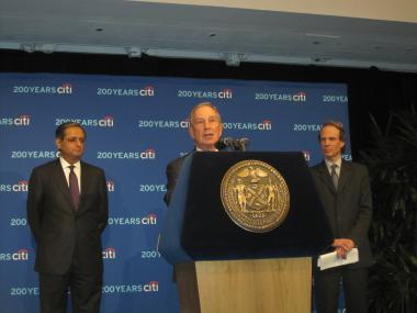 Mayor Michael Bloomberg joined Leo Abruzzese to announce the Economist Intelligence Unit's findings.