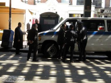A pedestrian was struck and killed by a van at Utrecht Avenue in Brooklyn on March 12, 2012.