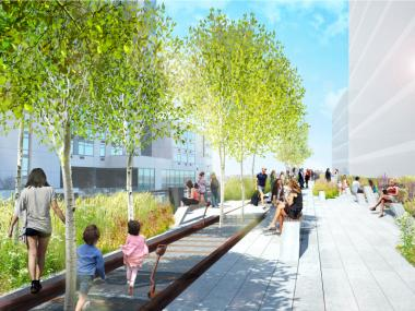 The new designs will incorporate the original train tracks from the High Line.