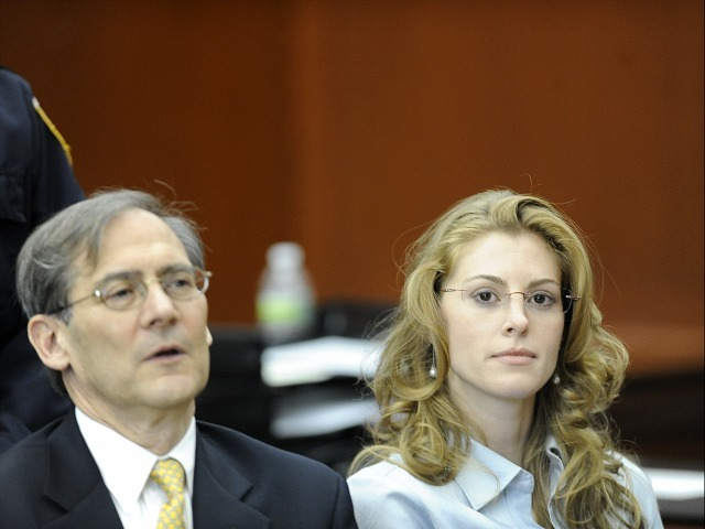 Jaynie Baker and her lawyer Robert Gottlieb, appear in Manhattan Supreme Court for her arraignment on March 13, 2012.