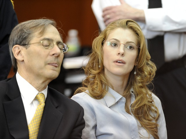 Jaynie Baker and her attorney Robert Gottlieb appear in Manhattan Supreme Court on March 13, 2012 for her arraignment on charges of promoting prostitution. (DNAinfo/John Roca)