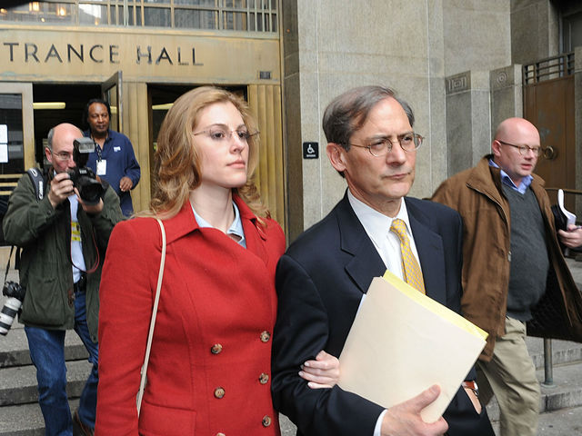 Jaynie Mae Baker and her lawyer Robert Gottlieb leave Manhattan Supreme Court.