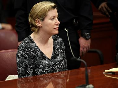 Anna Gristina, 44, appears in Manhattan Supreme Court on March 15, 2012.