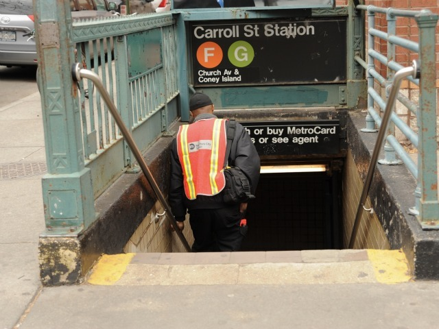 A man was struck and killed by a G train at the Carroll St. subway station in Brooklyn on March 15, 2012.